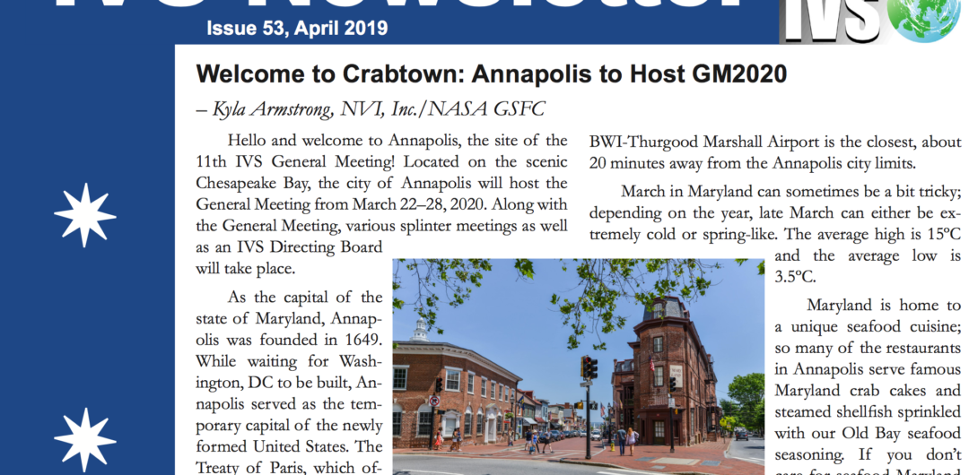 April 2019: IVS newsletter, issue 53